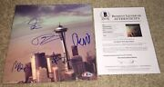 Foo Fighters Full Band Signed Sonic Highways Seattle Vinyl Dave Grohl +4 Bas