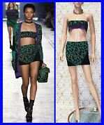 S/s 2016 Look 11 New Versace Camouflage Printed Skirt Size 38 - 2