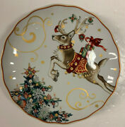 Williams Sonoma Twas The Night Before Christmas Reindeer Diner Plate
