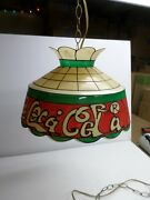 Vintage Drink Coca-cola Swag Lamp - 12 Ft. Chain/cord