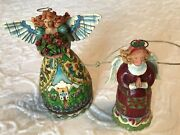 Jim Shore Summer Restores The Soul And Mini Praying Angel Ornament Lot Of 2
