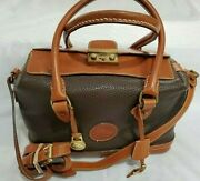 Vintage Dooney And Bourke All Weather Leather Lock And Key Doctor Bag Satchel Purse