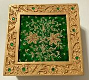 Box Jewelry Vintage Storage Case Gift Wood Display Ring Wooden Boxes India Green