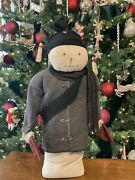 Mittens Handmade Primitive Snowman Christmas Farmhouse Doll Lots Of Character