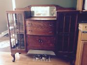 Antique Oak China Cabinet Was My Great Grandmothers No Room For It. Beautiful.