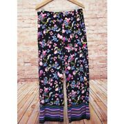 East 5th   Floral Wide Leg Palazzo Pants Large Nwt