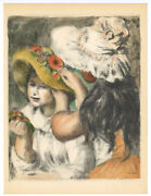 Renoir Lithograph - Pinning The Hat