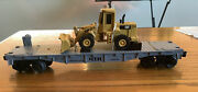 Rail King 30-7619 Condition Is New Box Is Shelf Worn Flat Car W/front End Loade