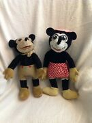 Rare Seldom Seen 1930s Mickey And Minnie Mouse Deanand039s Rag Dolls L@@@@@@k