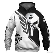 Usmc United States Marine Corps Scout Sniper Sta Hoodie Over Print All