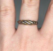 7 3/4 Marked Costume Jewelry Ring Twist Makers Mark 'w' Vintage 20th C. Fashion