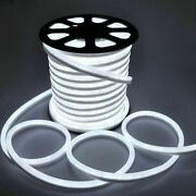 100ft Dc12v Pure White Led Neon String Lights For Home Party Road Outdoor Decor