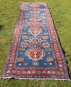Rare Antique Dated Oriental Tribal Corridor Carpet Dating Back To The 1940s