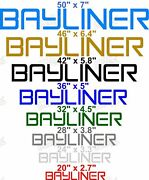 Bayliner Boat Decal Set Pair Pick Size And Color Custom Made When Ordered
