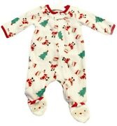 Just One You By Carters My First Christmas One Piece Pajamas Newborn New