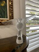 Stunning Lalique Crystal France Large Flying Dove Figurine – Mint Condition