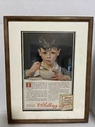 Original 1915 Kellogs Corn Flakes Advertisment With Story On Back
