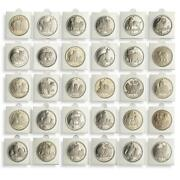 Isle Of Man 1 Crown Set Of 30 Coins Cats Of The World Nickel 1970 1988 - 2016