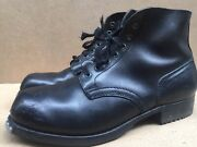 1961 Baltes Post Wwii German Army Black Half Boots Size Eur 46 Uk 11 Usa 12