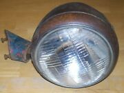 Vintage Late 30and039s-early 40and039s Chevrolet/gmc Bullet Headlamps With Pedestals Pair