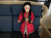 24 Antique Simon And Halbig Asian Doll, Great Head, Great Body