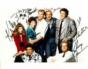 Cheers Cast Signed Authentic Autographed 8x10 Photo 8 Sigs Beckett Aa00610