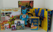 Beatles Yellow Submarine Vhs Lunchbox Puzzle Pins Sargent Pepper Beanie Bear Bag