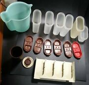 Set Of 6 Tupperware Modular Mate Spice Containers Brown Spice Rack Pitcher Lot