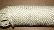 7/16 X 130and039 Sail/halyard Line 3-strand Polyester Control Line Boat Rope -new
