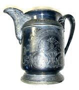 Reed And Barton Creamer Ornate Silver Pitcher Vintage 2983