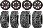System 3 St-4 14 Wheels Red 26 Bear Claw Htr Tires Yamaha Viking Wolverine