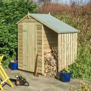 Rowlinson Oxford 4x3 Shed With Lean To