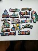Rainbow Travel Magnets Mostly Us Locations You Choose Refrigerator Souvenir
