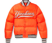 Menand039s Bomber Jacket With Ny Yankeesandtrade Patch