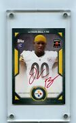 2013 Topps Nflpa Rookie Premiere Leand039veon Bell Rookie Card Red Ink /10-steelers