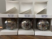 Handarbeit German Glass Christmas Tree Ornaments Made In Germany Gorgeous Rare