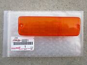 Fits 84 - 91 Toyota Corolla Front Right Side Turn Signal Light Lens Oem New