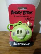 Angry Birds Green King Pig Clip-on Plush Keychain Backpack Clip On Kids 3 2011