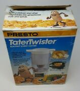 Vintage Presto Mr Tater Twister Electric Curly French Fry Potato Cutter