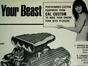 1969 Vintage Cal Custom Ad Valve Cover/air Cleaner/scoop/decal/mopar/ford/chevy