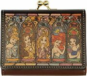 Disney Diversion Tri-fold Mini Wallet Stained Glass Collection Princess
