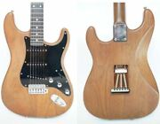 Schecter Ps-st-wal Walnut 90and039s Electric Guitar W/ Leather Gig Bag Japan Shipped