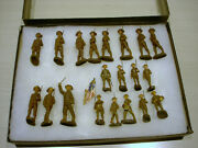 Vintage Lot Of 20 Wwi And 2 Elastolin And Duro Toy Soldiers - / Made In Germany