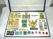 Lot Of 60 -original Wwii Military Officer's Badges Insignia Pin Backs Medal Etc.