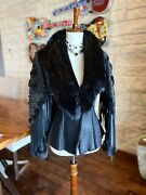 Extraordinary Work Of Art Kippys Crystal Leather And Beaver Jacket Size S