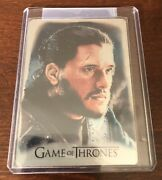 Game Of Thrones Inflexions Artifex Metal Expansion Chase Card Af15 Jon Snow