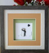 Sea Glass And Pebble Framed Art Decor-best Friends-boy And His Dog