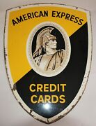 American Express Hanging Sign/shield Double Sided Credit Cards Roman Centurion