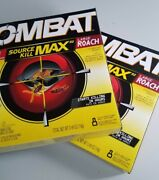 2 Box Lot Combat Source Kill Max R2- 16 Cockroach Bait Stations New And Sealed