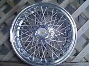 One 1986 1992 Chevy Chevrolet Impala Caprice Hubcap Wire Wheel Cover Vintage